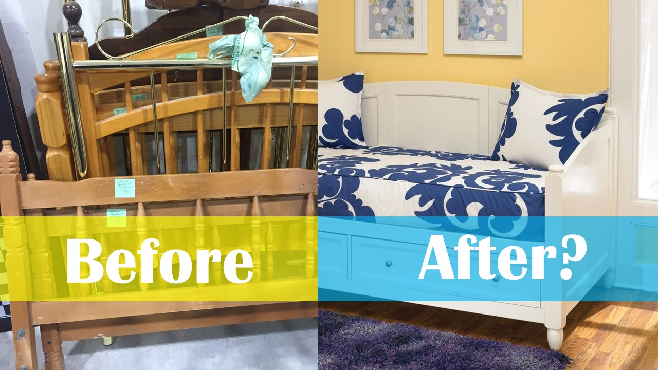 Turn an Old Bed Into a DIY Daybed and Save $1,000
