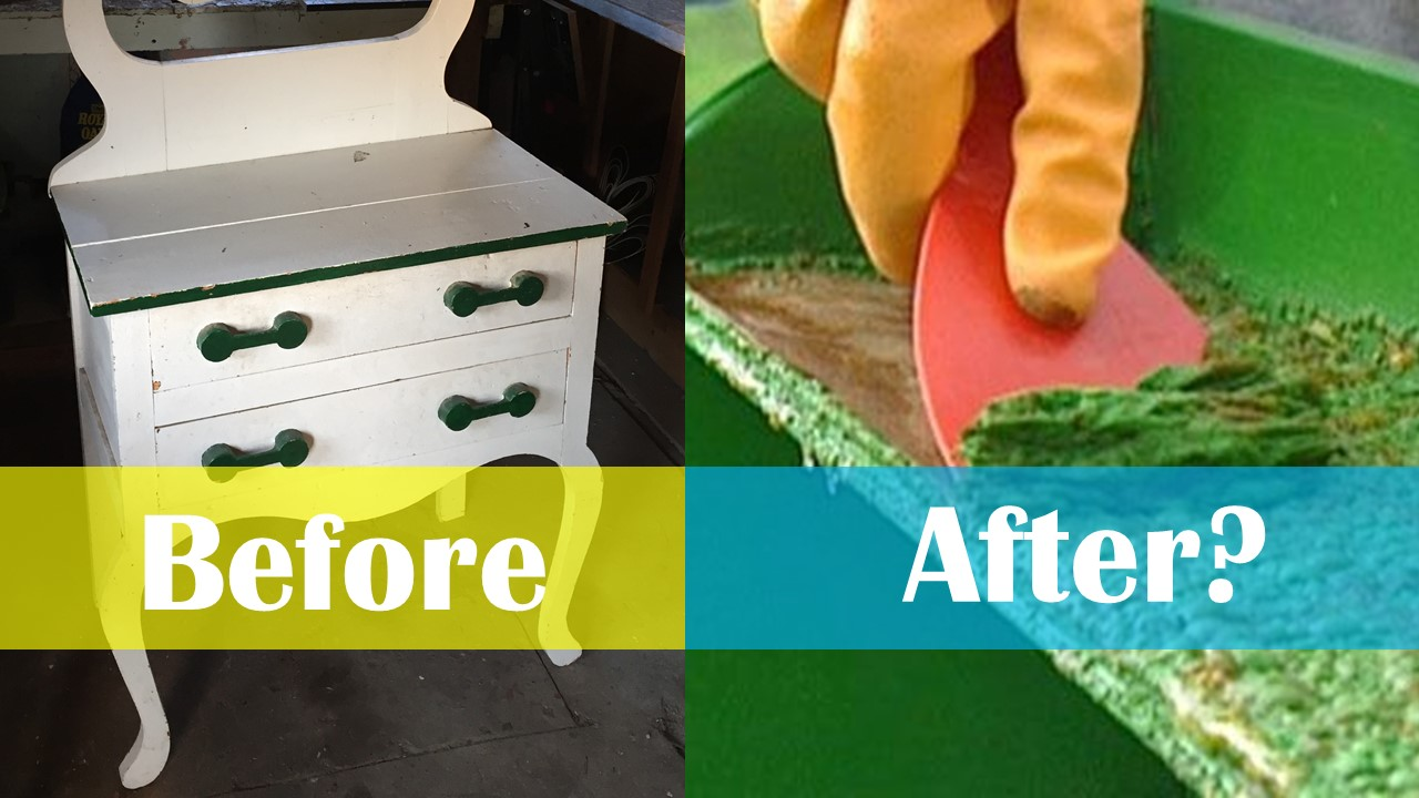 Another DIY Fail? Our Attempt at Paint Stripping Furniture…