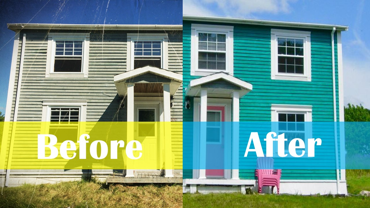 Haunted House Renovations Before After Exterior